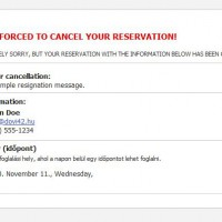 Cancel booking - with a message