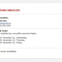 Notify administrator of cancellation of booking