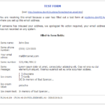 Email notofication