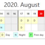 Schedule in content